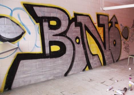 Bono graffiti piece found in urbex
