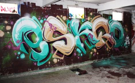 Eskro graffiti piece found in urbex