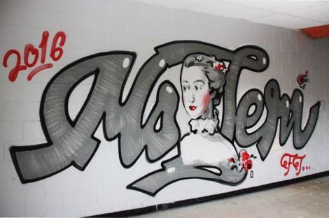 Ms Teri graffiti piece found in urbex