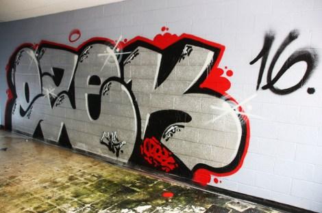 Ozek graffiti piece found in urbex