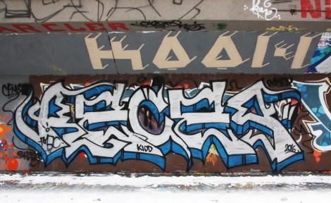 Reces graffiti piece found at the PSC legal graffiti wall