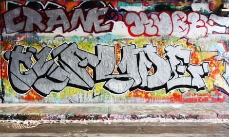 Claude at the Rouen legal graffiti tunnel