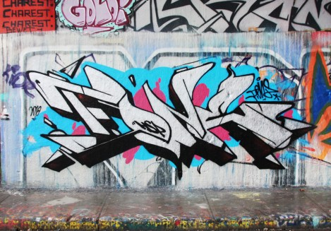 F.One at the Rouen legal graffiti wall