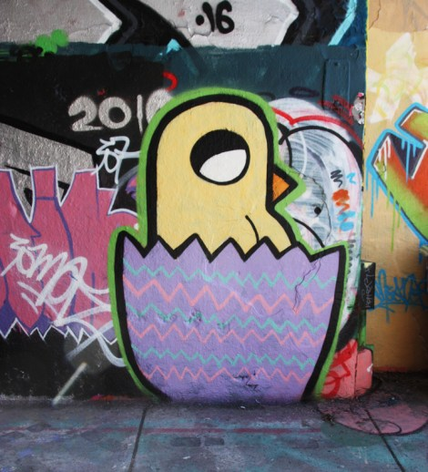 ROC514 at the Rouen legal graffiti wall