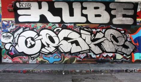 Eskro at the Rouen legal graffiti tunnel