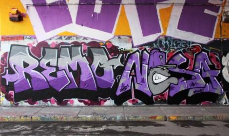 Remo and Nesa at the Rouen legal graffiti tunnel