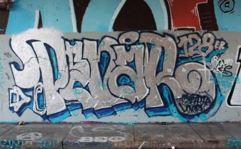 Penar at the Rouen legal graffiti wall