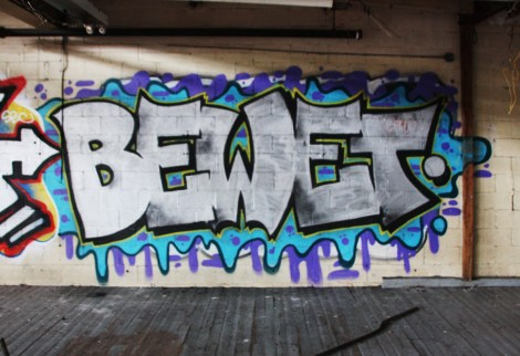 Bewet found inside the abandoned Transco
