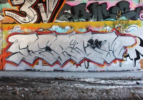 Serum at the Rouen legal graffiti tunnel
