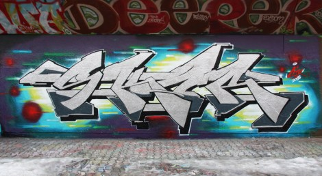 Skor at the PSC legal graffiti wall