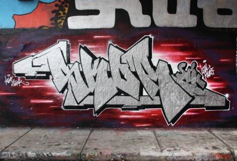 Skor at the Rouen legal graffiti wall