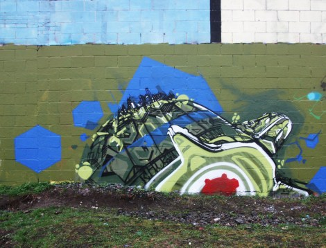 mural piece by Tchug in Rosemont