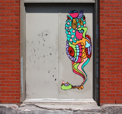 wheatpaste by Le Renard Fou in the Plateau