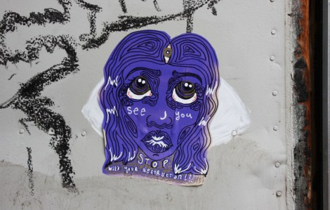 Sloast paste-up found in the Plateau