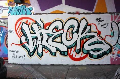 Hieck at the Rouen legal graffiti tunnel