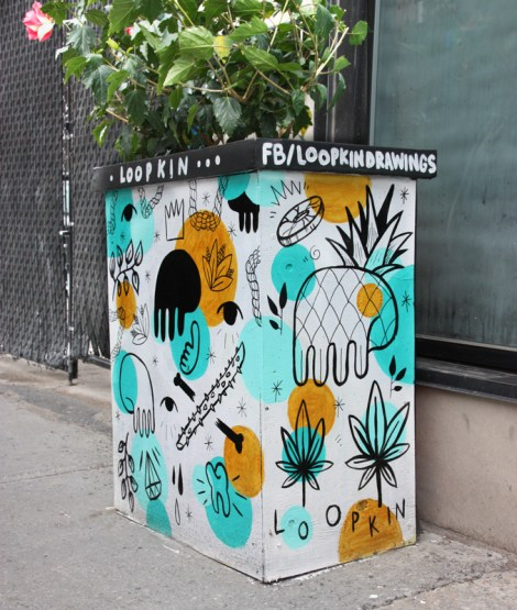 Loopkin on Amherst flowerpot for the 2016 edition of the MTL En Arts festival