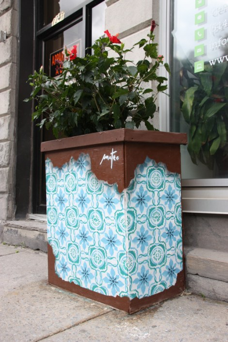 Mateo on Amherst flowerpot for the 2016 edition of the MTL En Arts festival