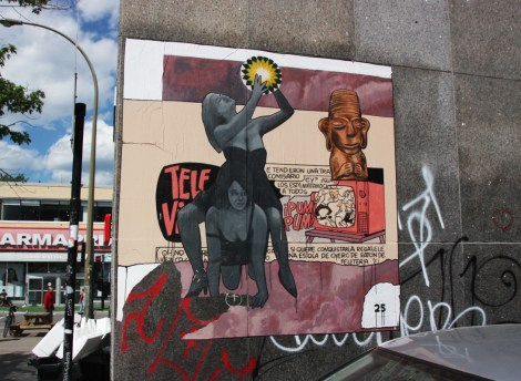 huge Elsol25 poster pasted in the Festival Mural zone