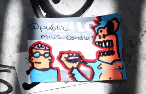 Miss Conduct sticker