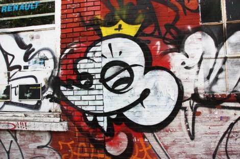 Scaner on an abandoned garage