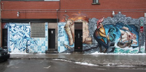 A'Shop mural in the Plateau featuring Dodo Osé, Phile, Zek and Fluke