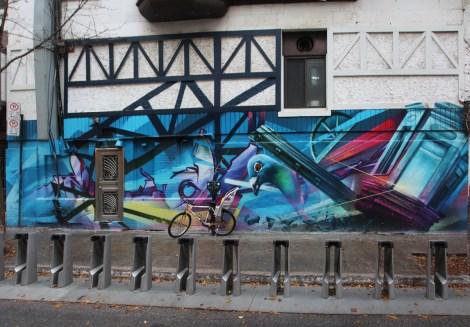 Zek mural downtown Montreal