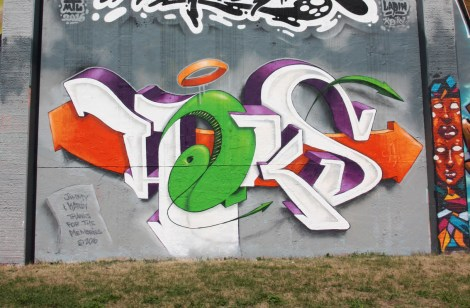 Haks at the Lachine legal graffiti walls