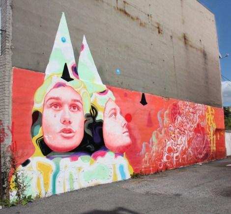 Hsix mural in Hochelaga
