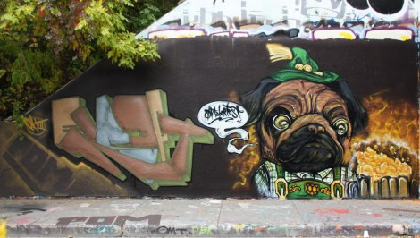 EK7 (left) and Elfu (right) at the Rouen legal graffiti wall