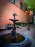 Pretty fountain in the alley