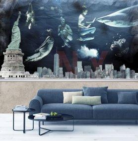 Abiss NY wallpaper cusomizable. Abiss CArta da parati realizzabile su misura.