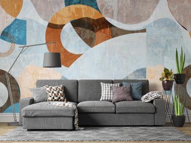 Round Wallpaper customizable . Round Carta da parati realizzabile su misura.