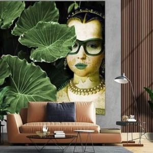 Woman with glasses Canvas