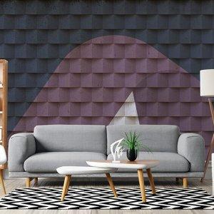 Sfaccettato Wallpaper customizable effetto 3D. Carta da parati realizzabile su misura effetto 3D.