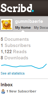 Server Statistik bei scribd.com