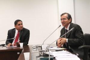 Deputado Zé Inácio e o secretário de saúde Marcos Pacheco