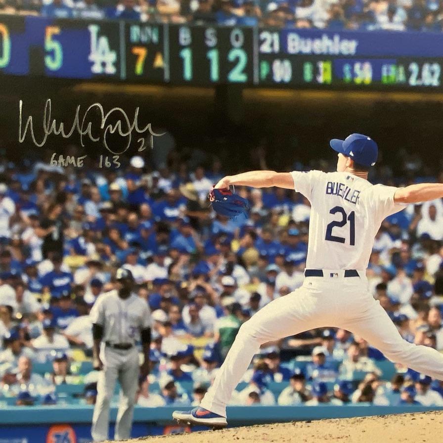 Signed picture of Walker Buehler from LA Dodgers