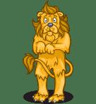 Afbeeldingsresultaat voor scared lion cartoon