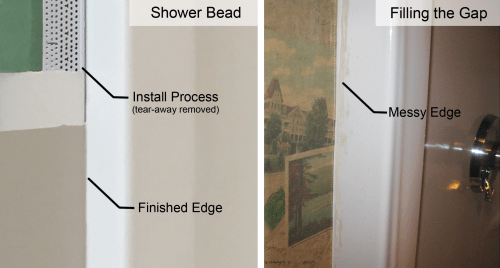 how to finish drywall where it meets