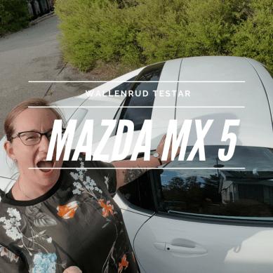 Wallenrud testar en Mazda MX5
