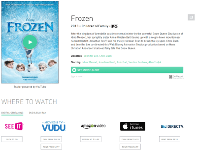 Because Frozen is really hard to find. :)