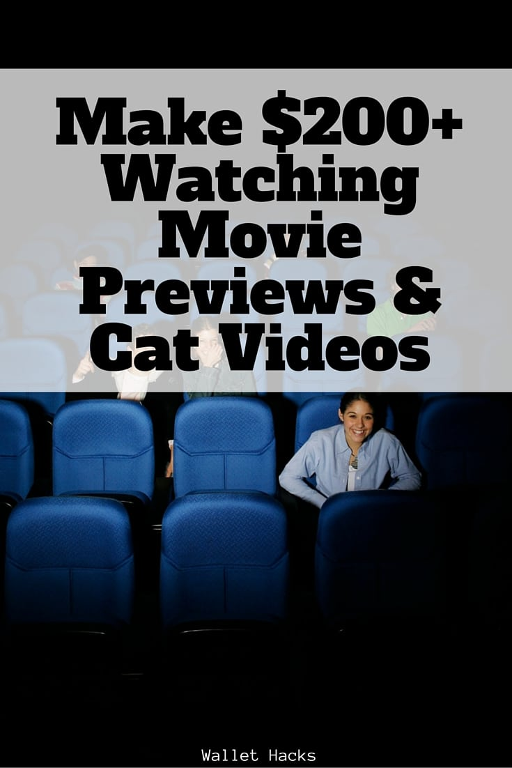 How to Earn $200+ a Month Watching Movie Previews, Cat ...