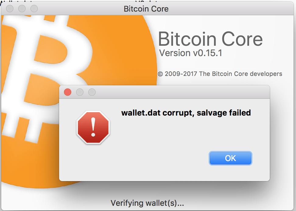Bitcoin Walletdat Corrupt Salvage Failed Best Litecoin Miner