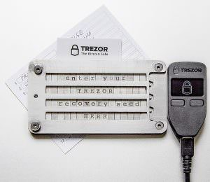 Trezor with Cryptosteel