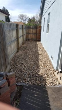 The side yard is complete!