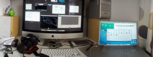 "My Desktop - 27"" iMac, Canon 5dmk2, GoPro Hero 4 Black - Wallet Workout"