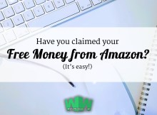 Claim your free £5 from Amazon