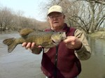 smallmouth bass caught on the des moines river