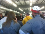 Photos from factory tour of new aluminum boat factory.