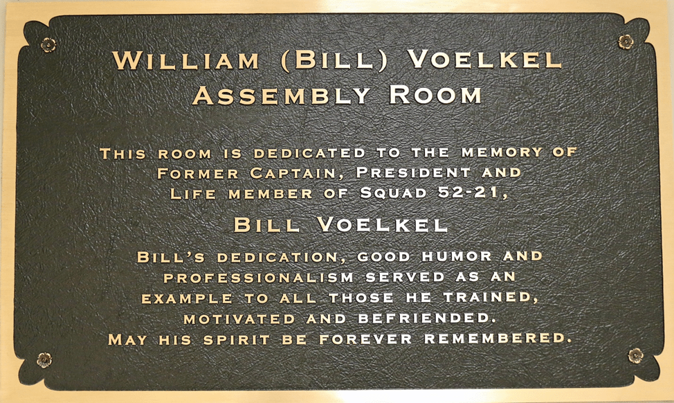 Memorial plaque placed in the Assembly Room.